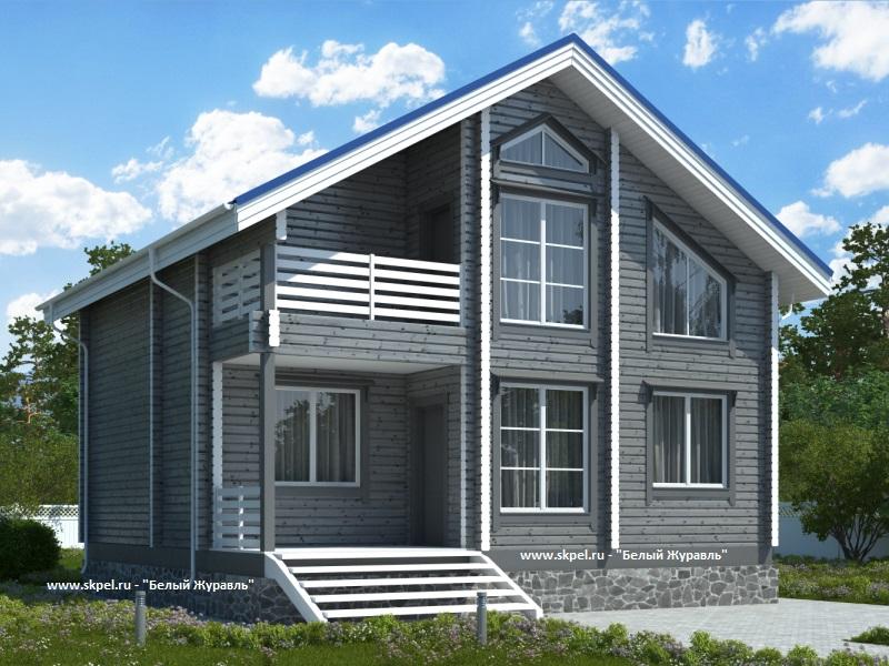 Дом из бруса 8х8, проект дома 8х8.