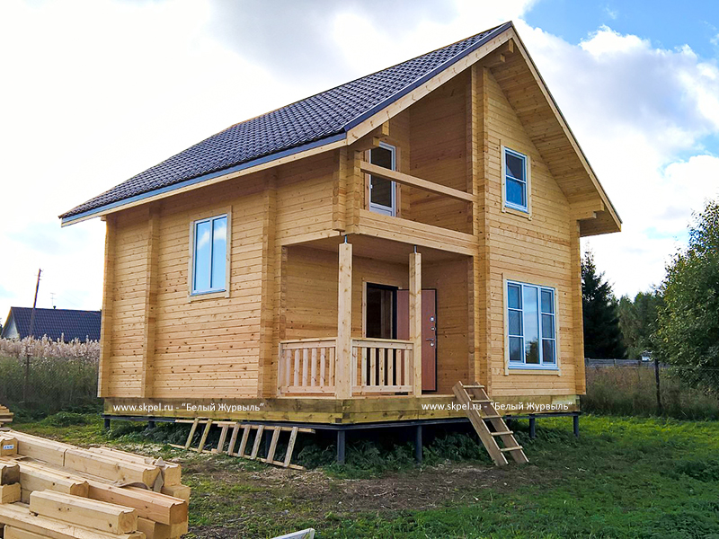 Дом 7х8 из профилированного бруса. Проект деревянного дома ...  Дом из Бруса 7х8