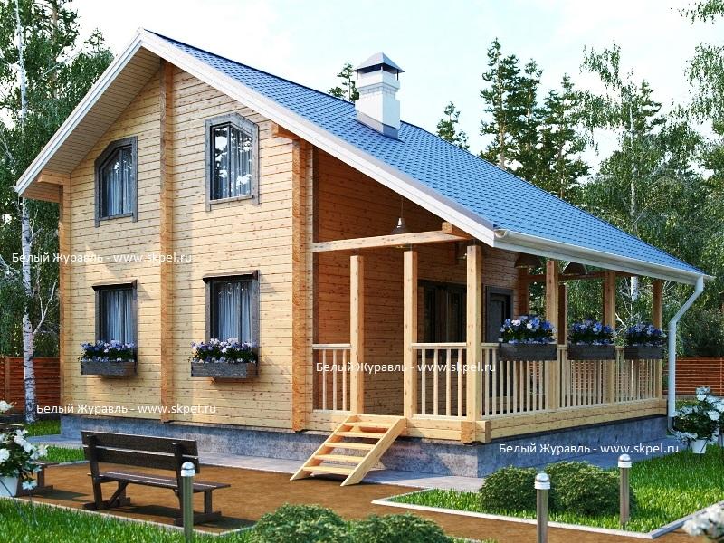 проекты домов из бревна с террасой изготовлении спортивного