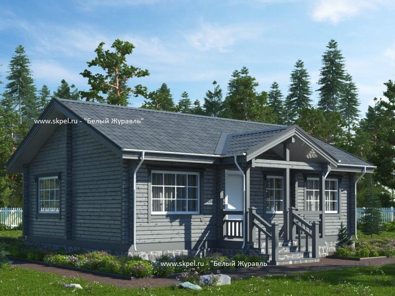 фото одноэтажных домов из бруса