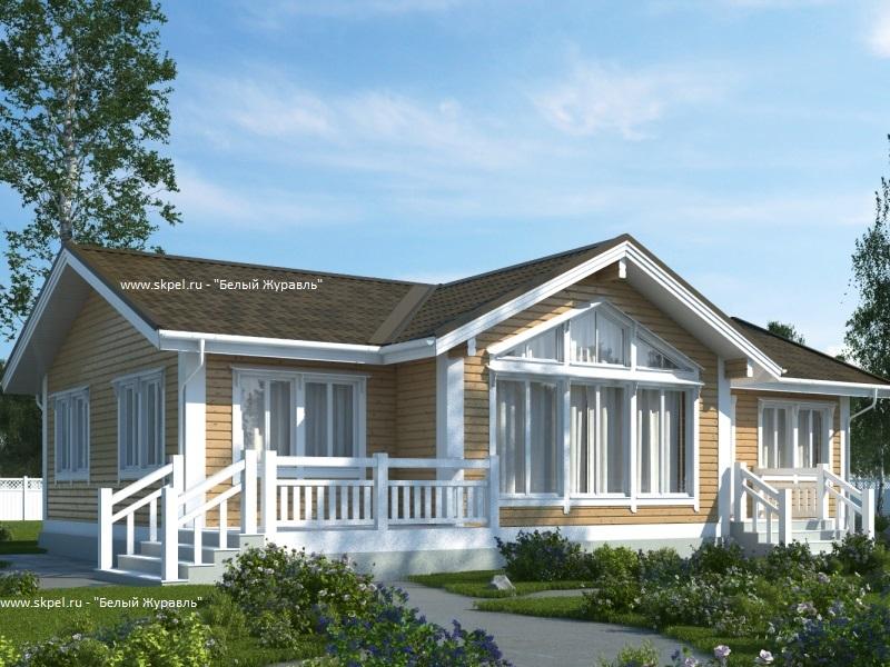 фото одноэтажные каркасные дома