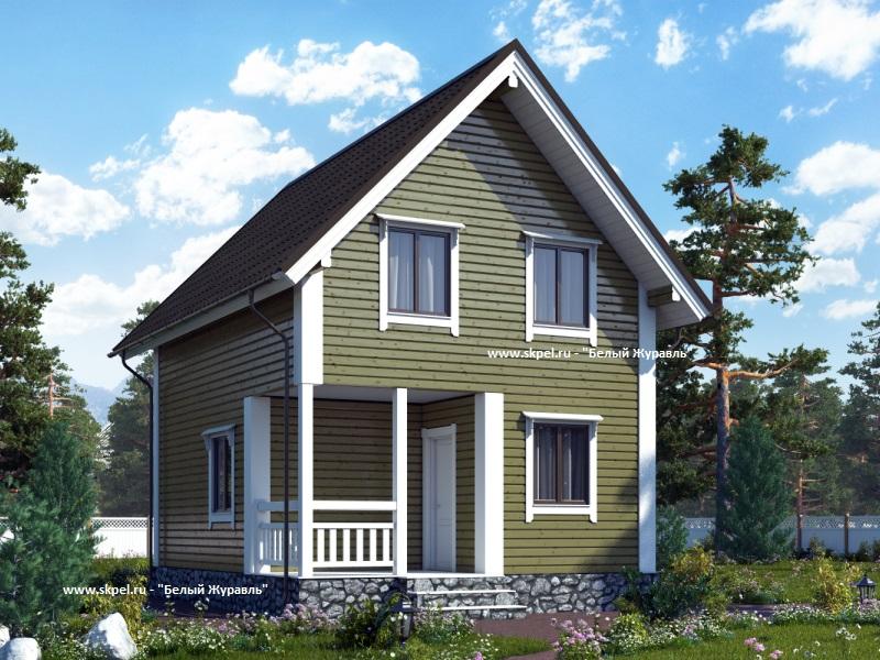 Брусовой дом 7x7 м Проект- ds-domaru