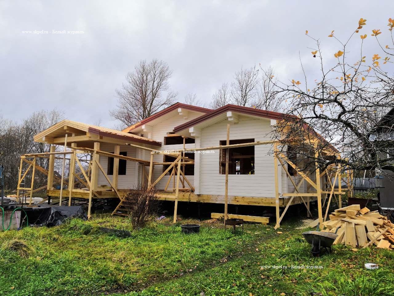 Дом из сухого бруса в Горной Шальдихе