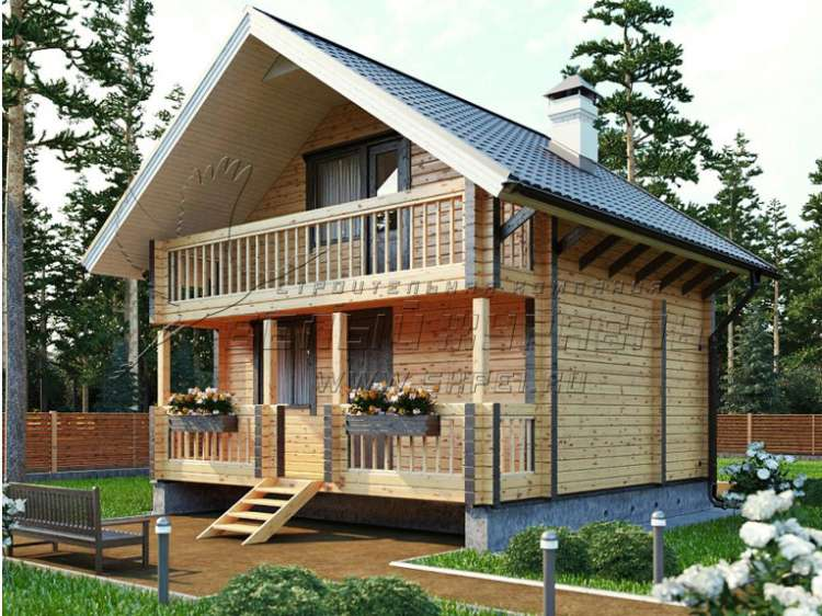 Одноэтажный дачный домик 6х4 Проект, цена под ключ, фото