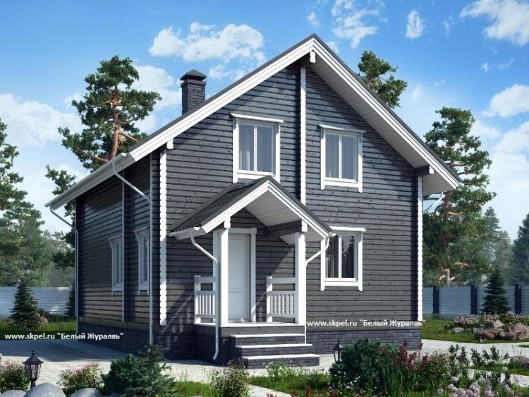 Дом 7*8 из профилированного бруса. Проект деревянного дома 7*8 из бруса. 112 квадратных метров.